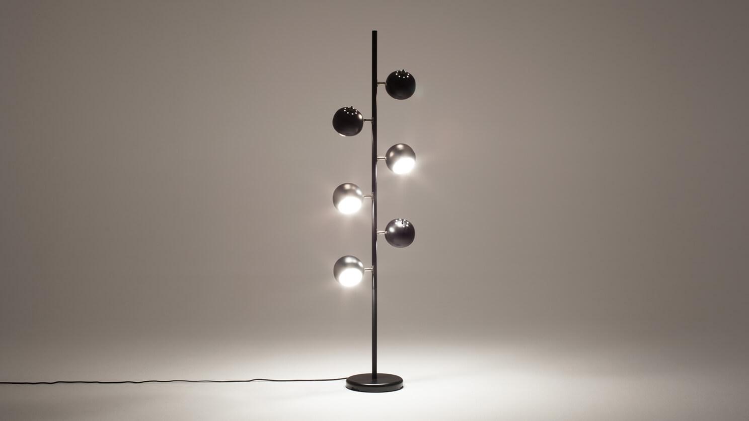 Six Globe Floor Lamp Eq3