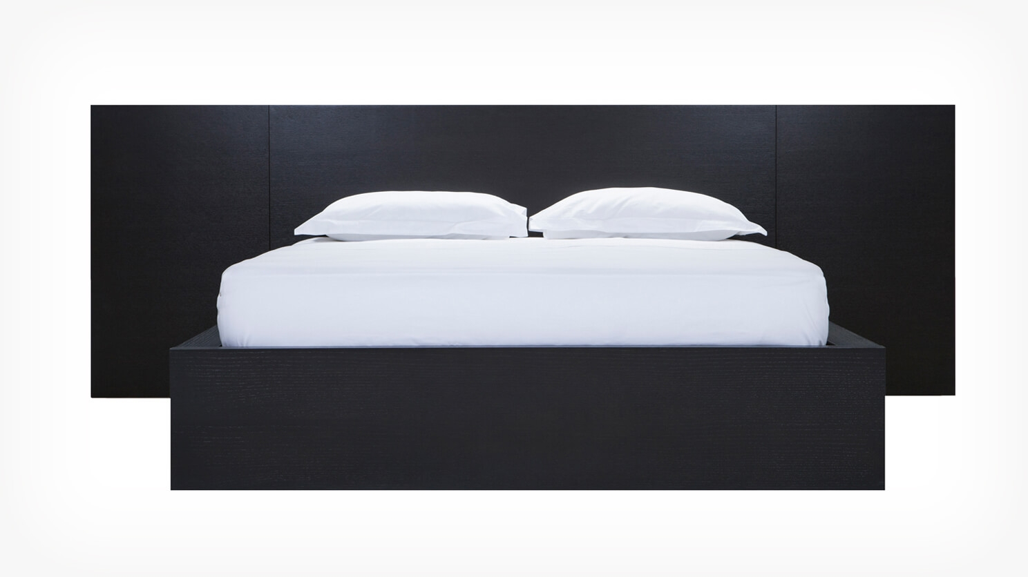 Simple Bed W Extended Panel Headboard Eq3