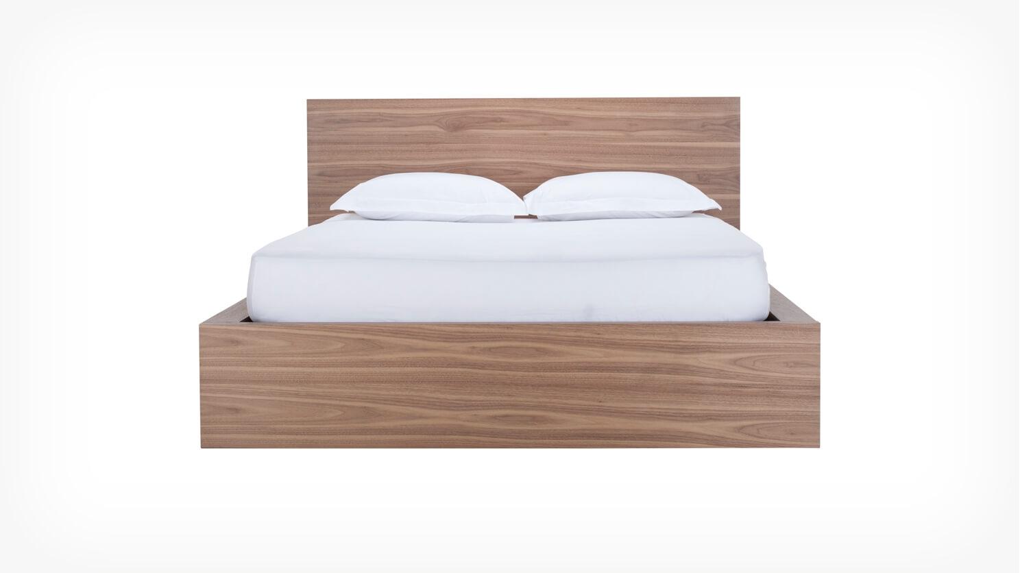 Simple Bed W Panel Headboard Eq3