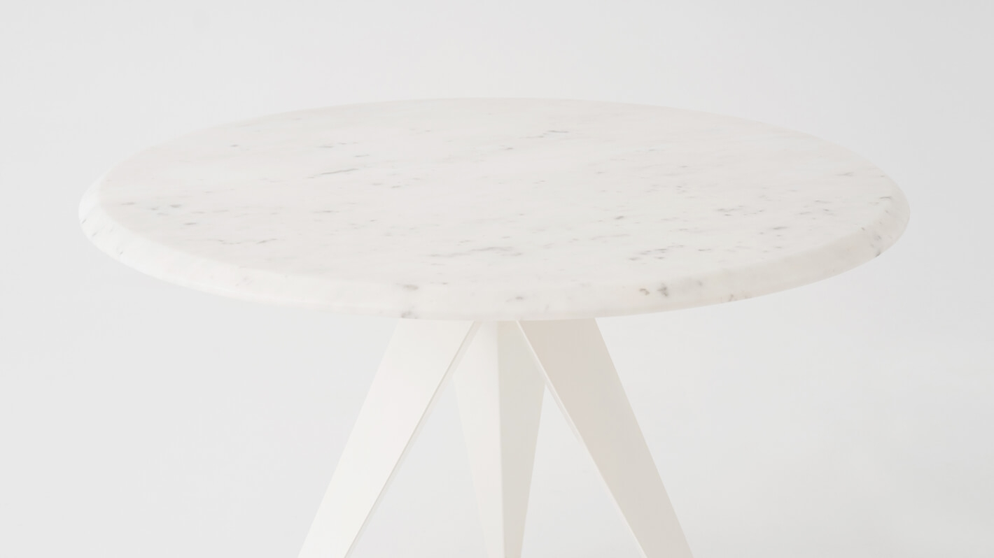 Mesa Round Dinette Table - White Marble Top | EQ3