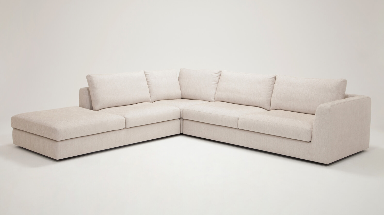 Cello 3 Piece Sectional Sofa With Backless Chaise Fabric