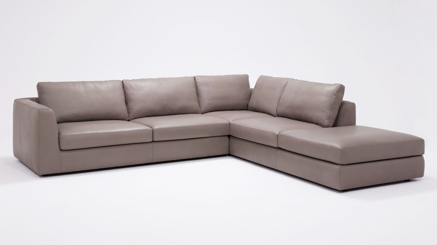Merveilleux Cello 3 Piece Sectional Sofa With Backless Chaise   Leather | EQ3