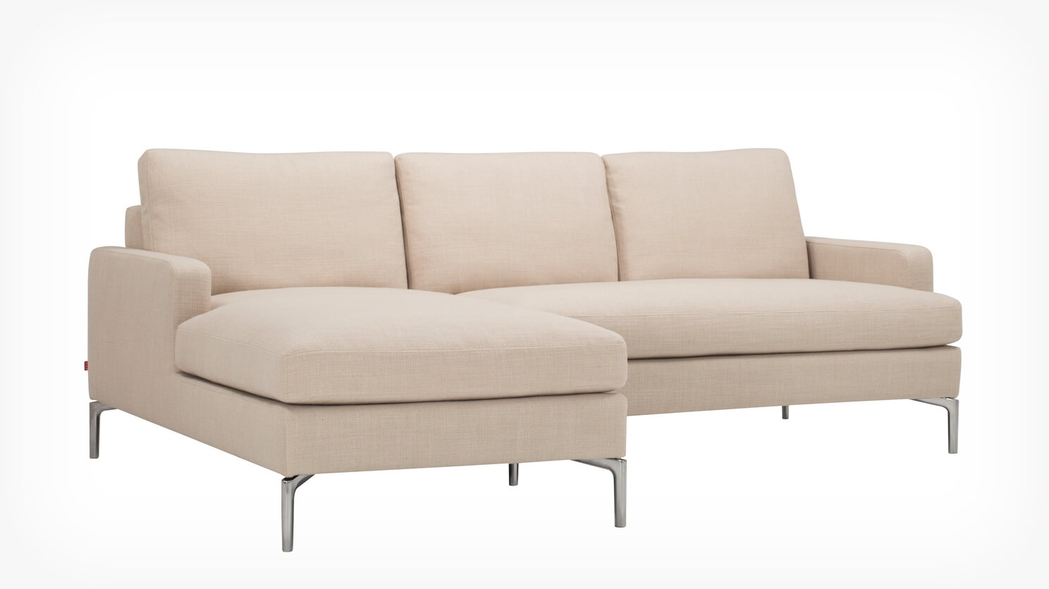 Eve Classic 2 Piece Sectional Sofa With Chaise Fabric Eq3