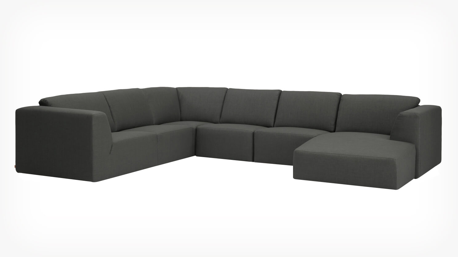 Morten 6 Piece Sectional Sofa With Chaise Fabric Eq3