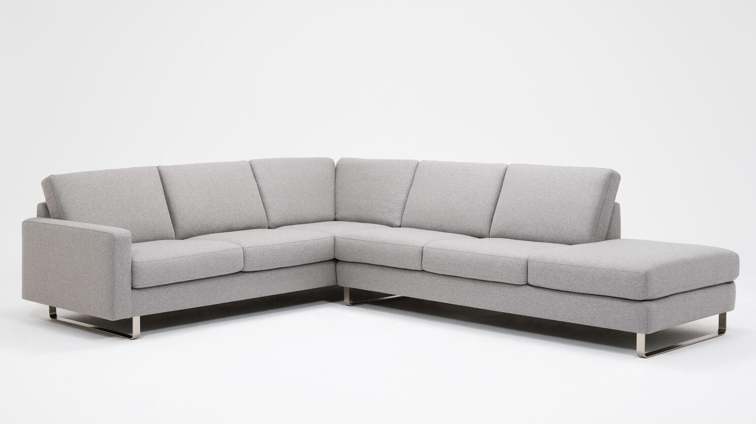 Oskar 2 Piece Sectional Sofa With Headrests Fabric