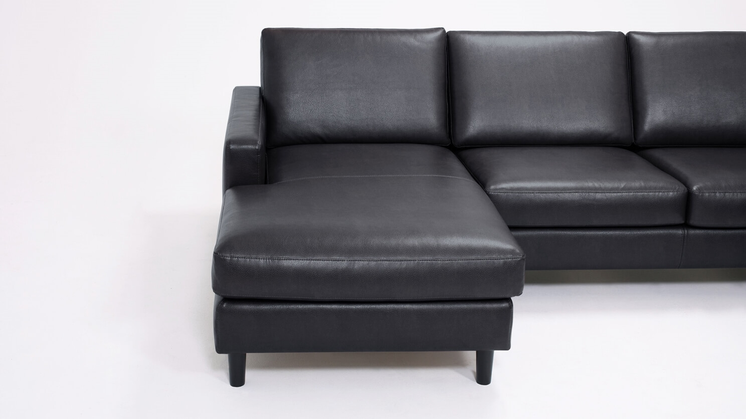 Oskar 4 Piece Sectional Sofa With Chaise Leather Eq3