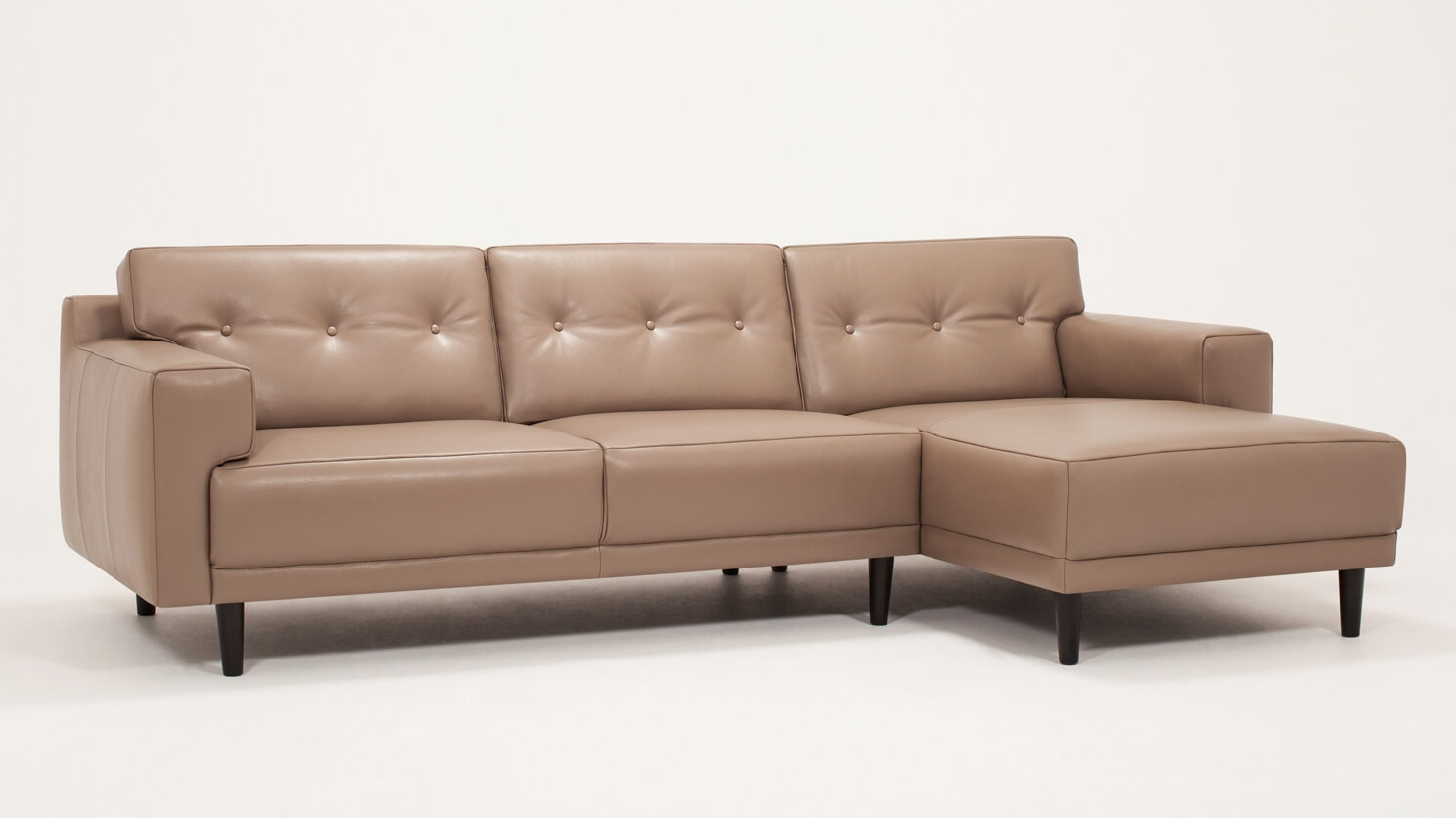 Remi 2 Piece Sectional Sofa With Chaise Leather Eq3