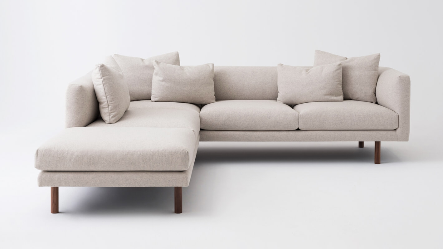 Replay 2-Piece Sectional Sofa With Backless Chaise - Fabric ...