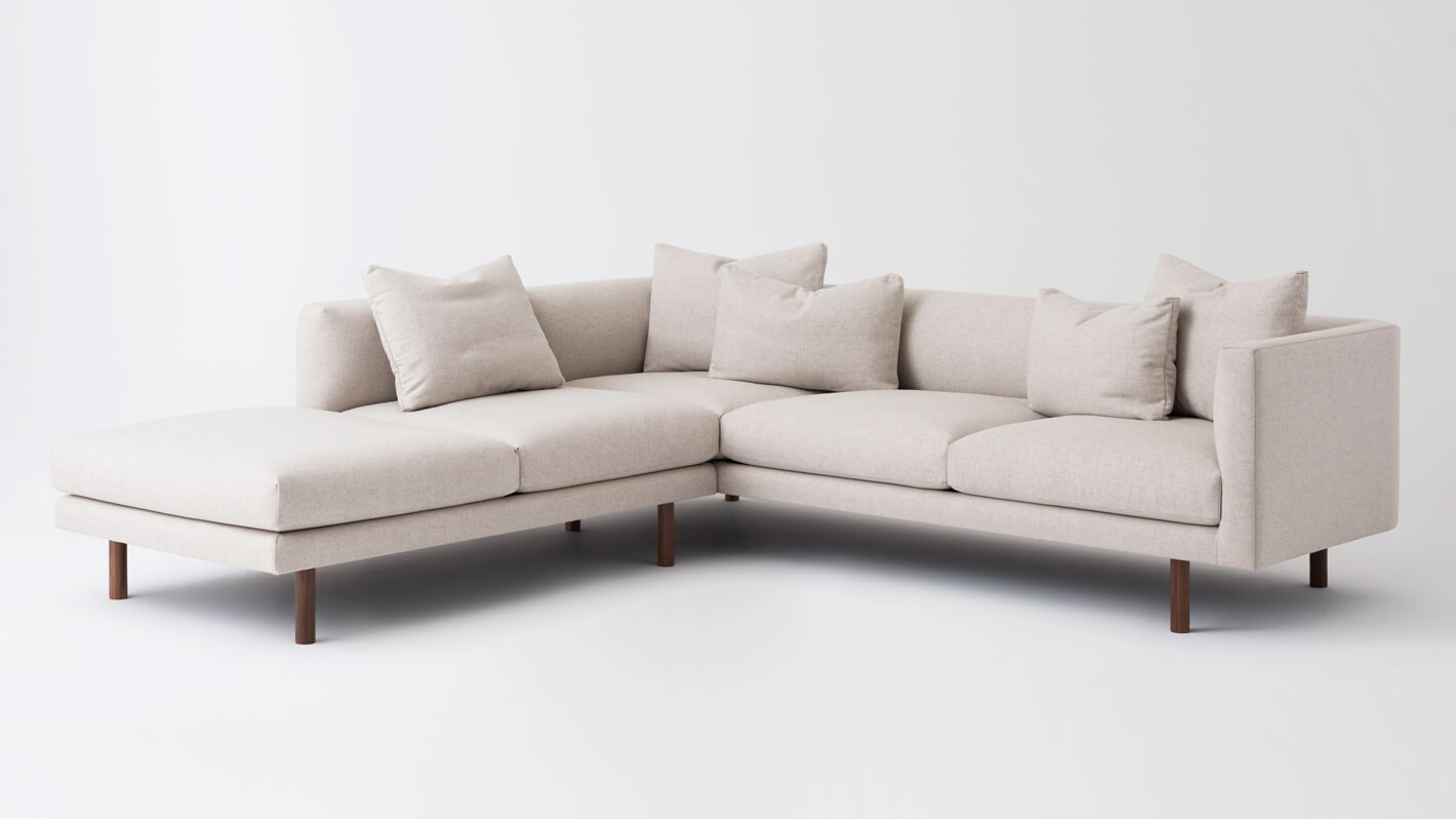 Delicieux Replay 2 Piece Sectional Sofa With Backless Chaise   Fabric