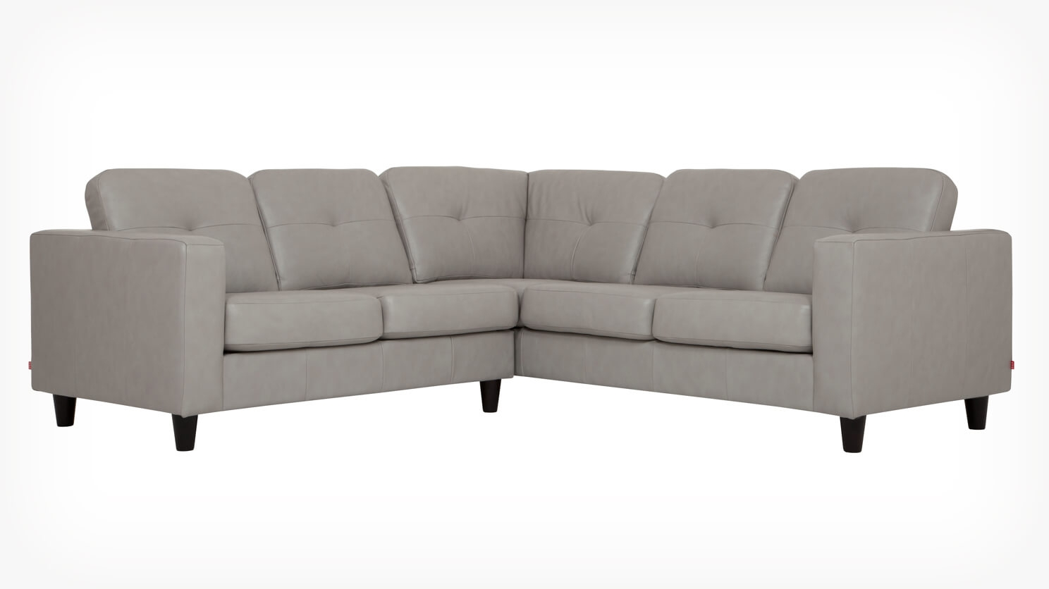Solo 2 Piece Sectional Sofa Leather Eq3
