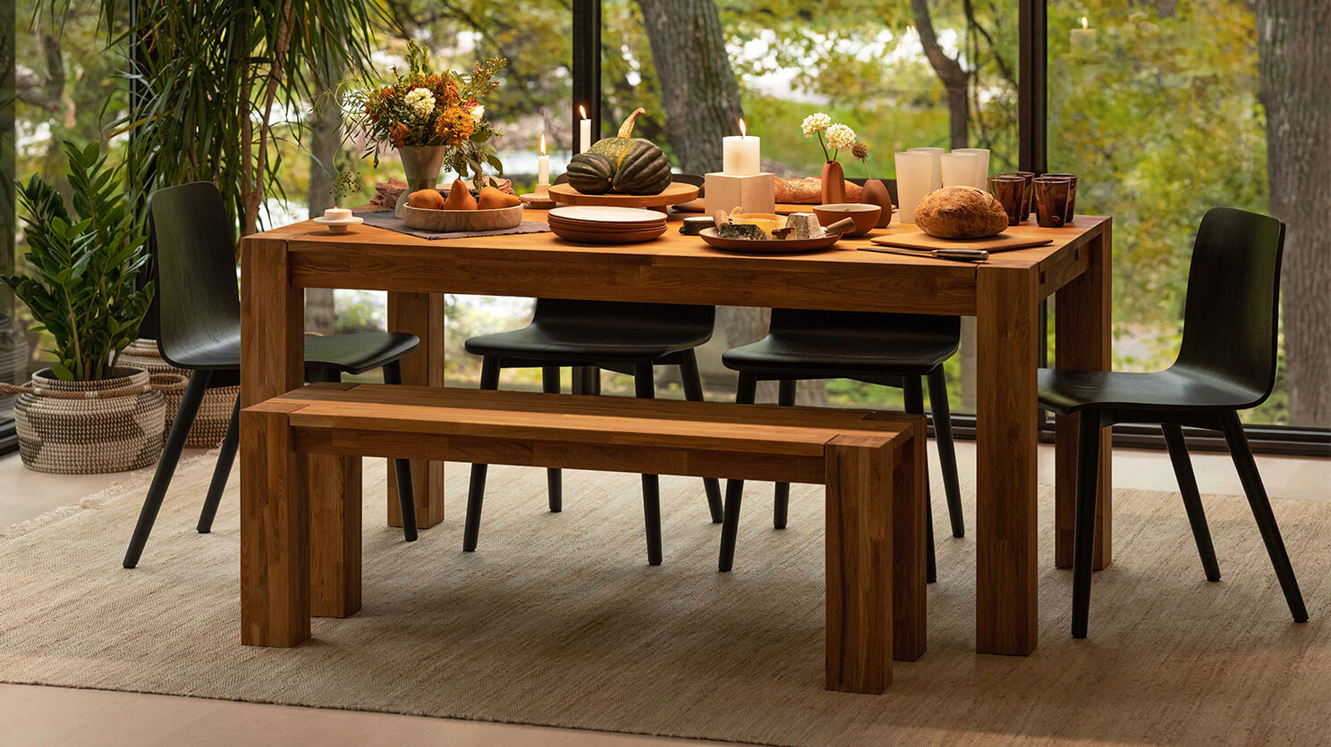Rustic Dining Table Bench Seat From Eq3, Eq3 Dining Room Tables