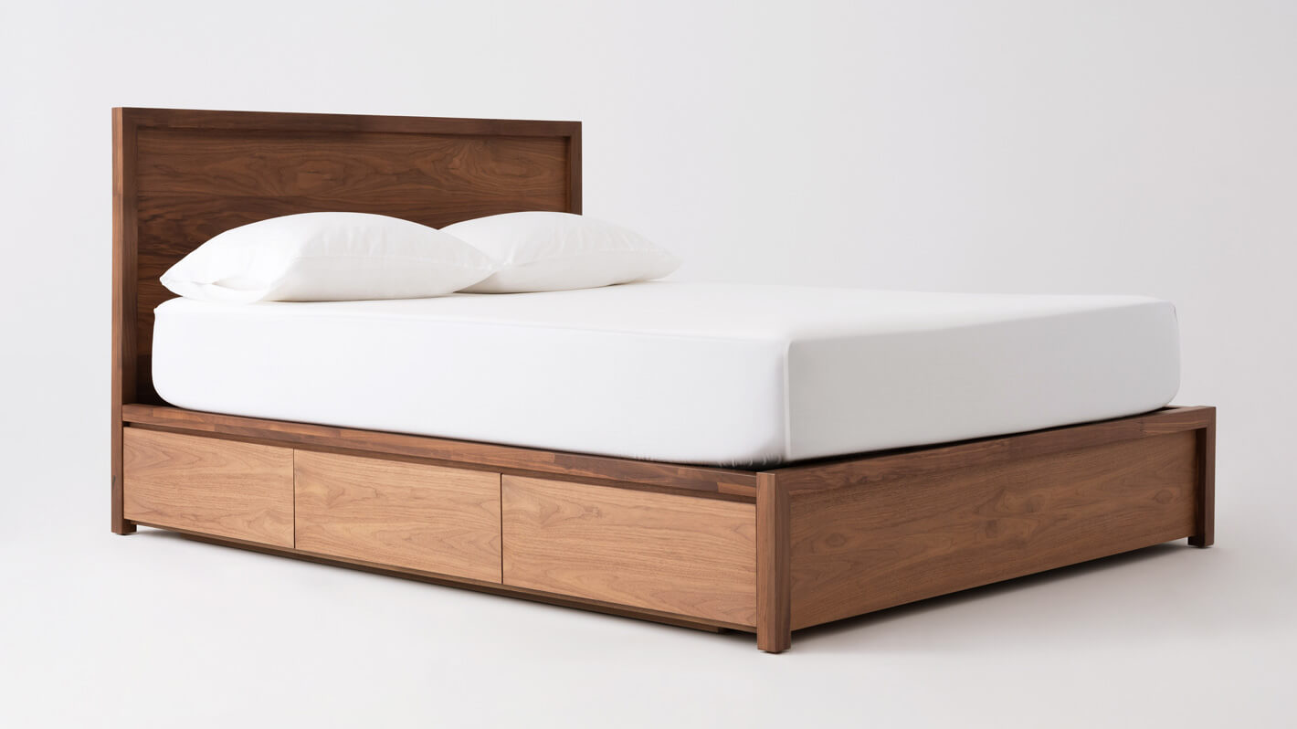 Lit Avec Rangement En Dessous lit à panneaux marcel avec tiroirs de rangement
