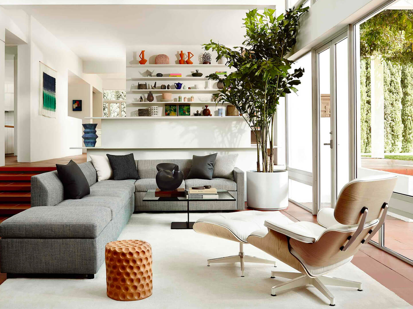 Eames Lounge Chair Living Room eames® lounge chair and ottoman