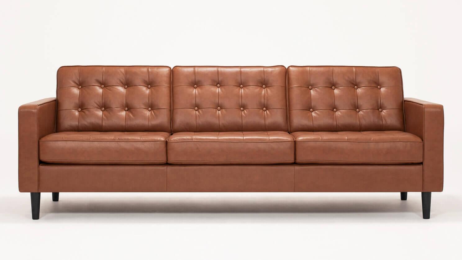 Reverie 92 Sofa Custom Made Leather Sofa Eq3