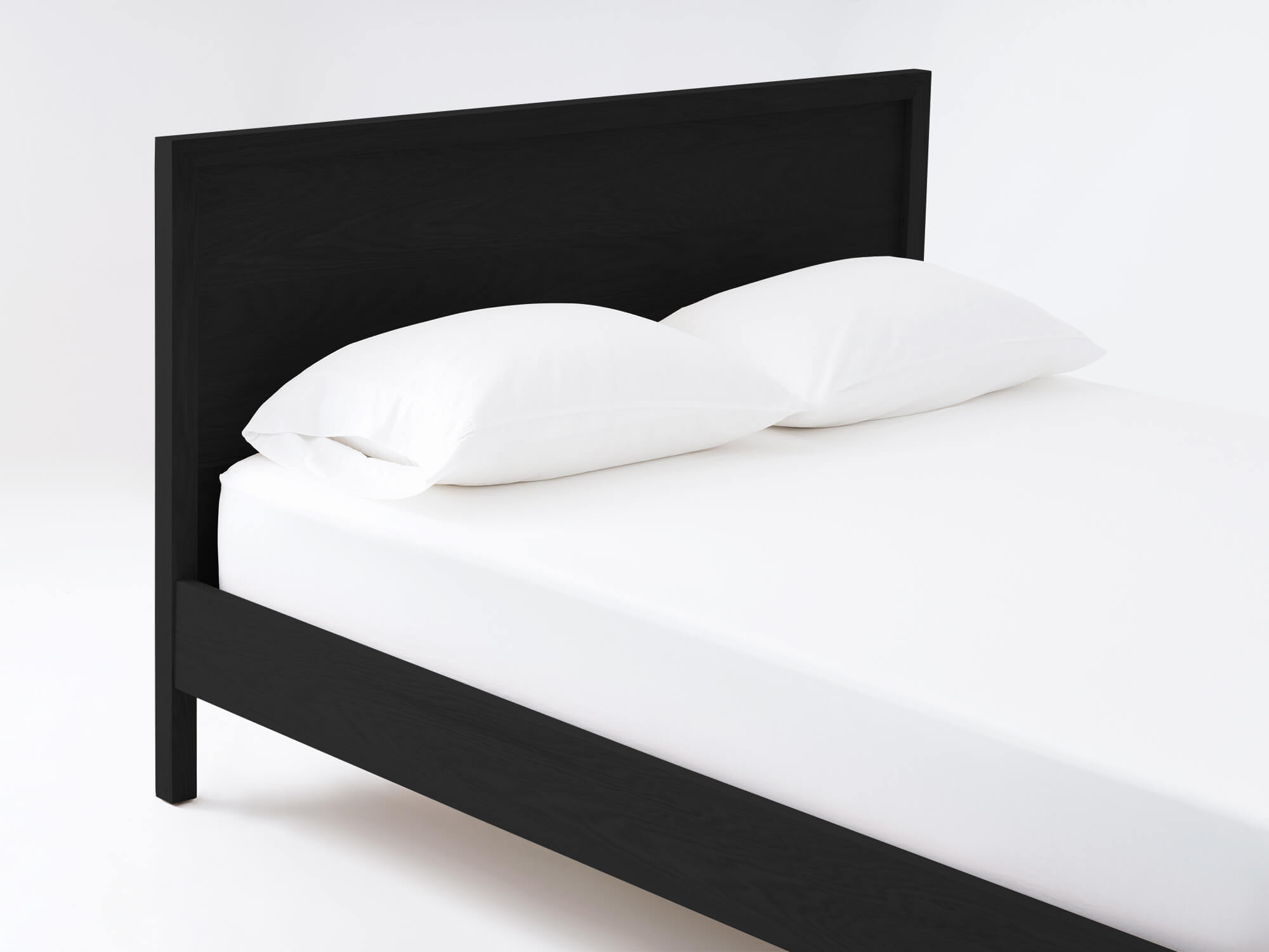 Marcel Platform Bed Modern Bed In Walnut Or Oak Eq3