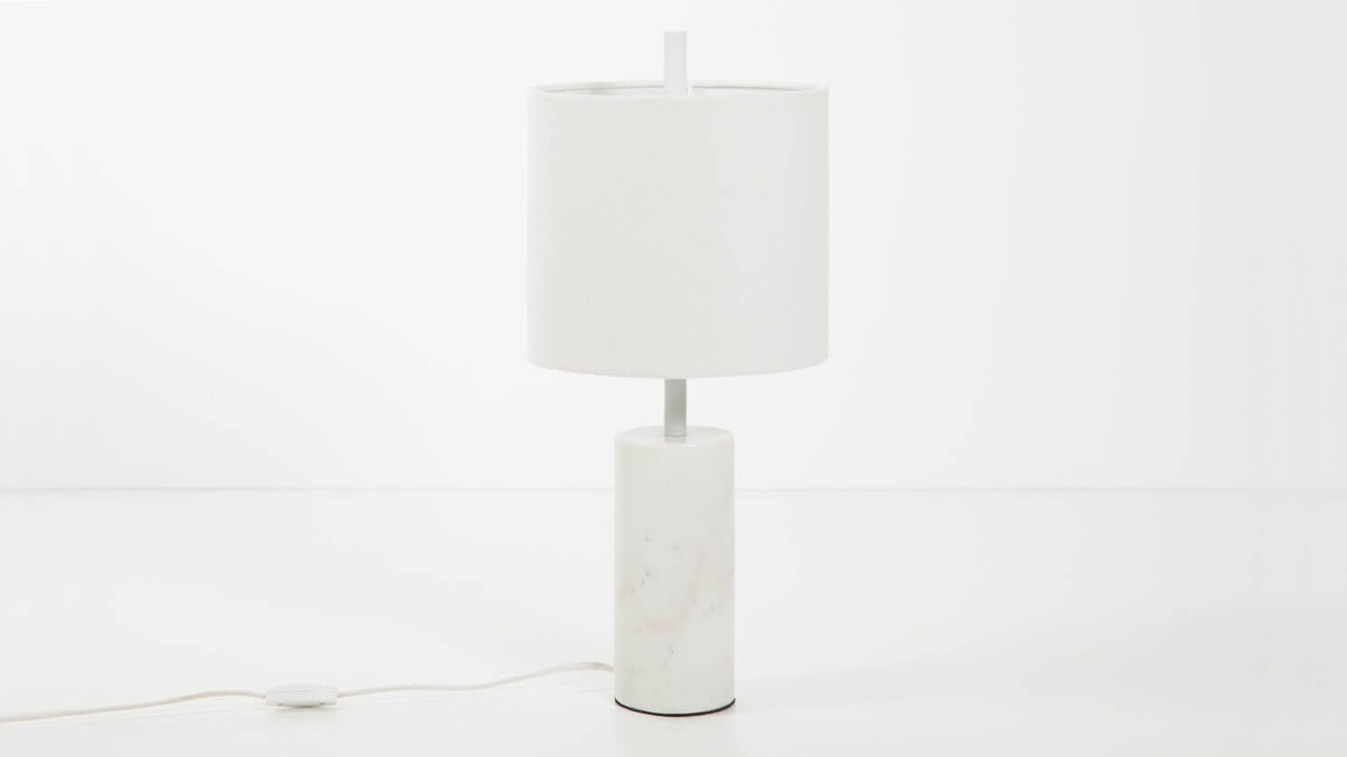 Gentil Drum Table Lamp   White | EQ3