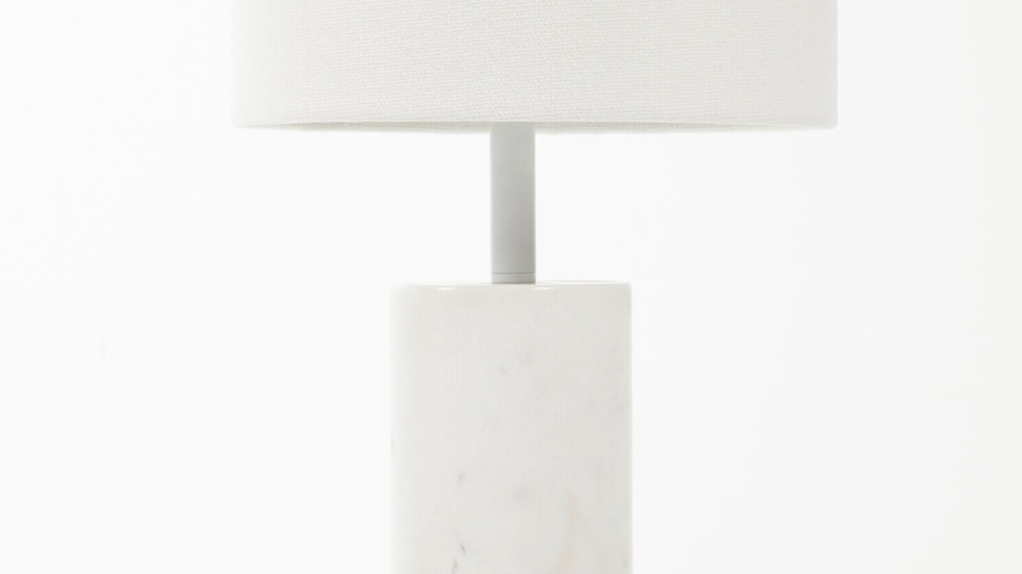 Drum Table Lamp   White