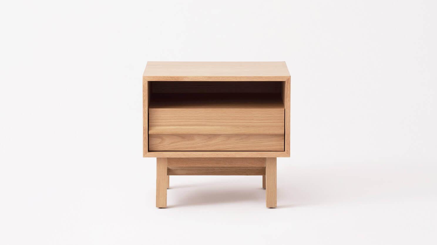 Marcel Open Shelf Nightstand Eq3