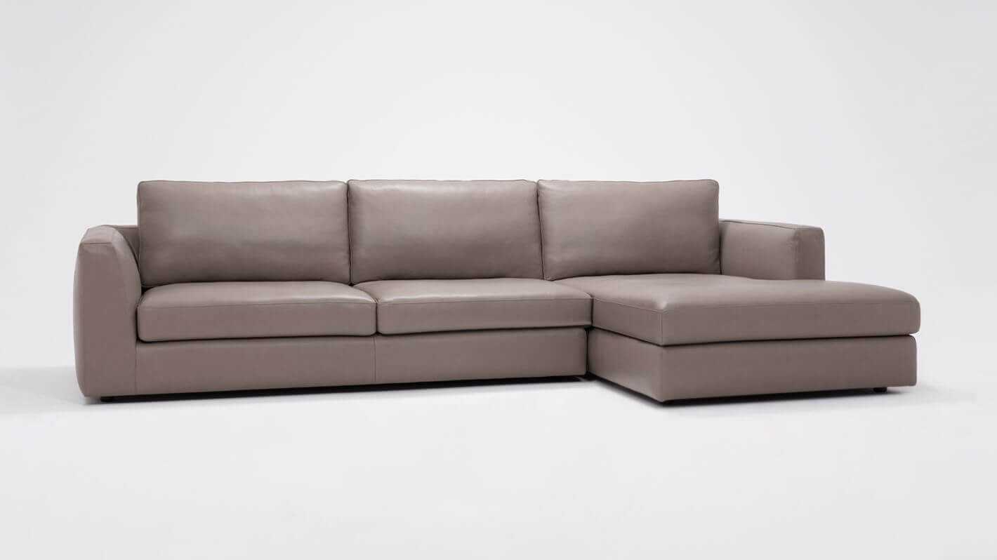 Cello 2-Piece Sectional Sofa with Chaise - Leather | EQ3