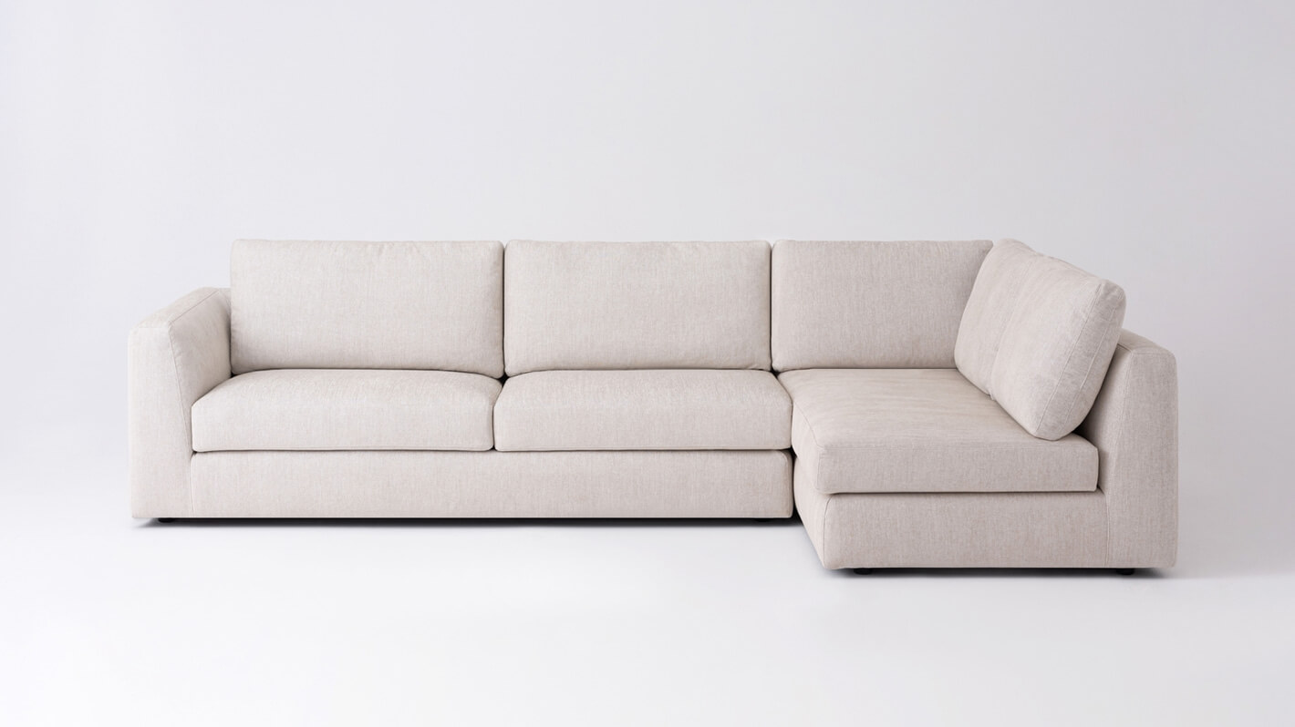 Cello 2-Piece Sectional Sofa With Full Arm Chaise | EQ3