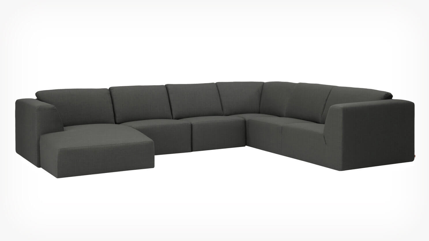 Morten 6-Piece Sectional Sofa with Chaise - Fabric | EQ3