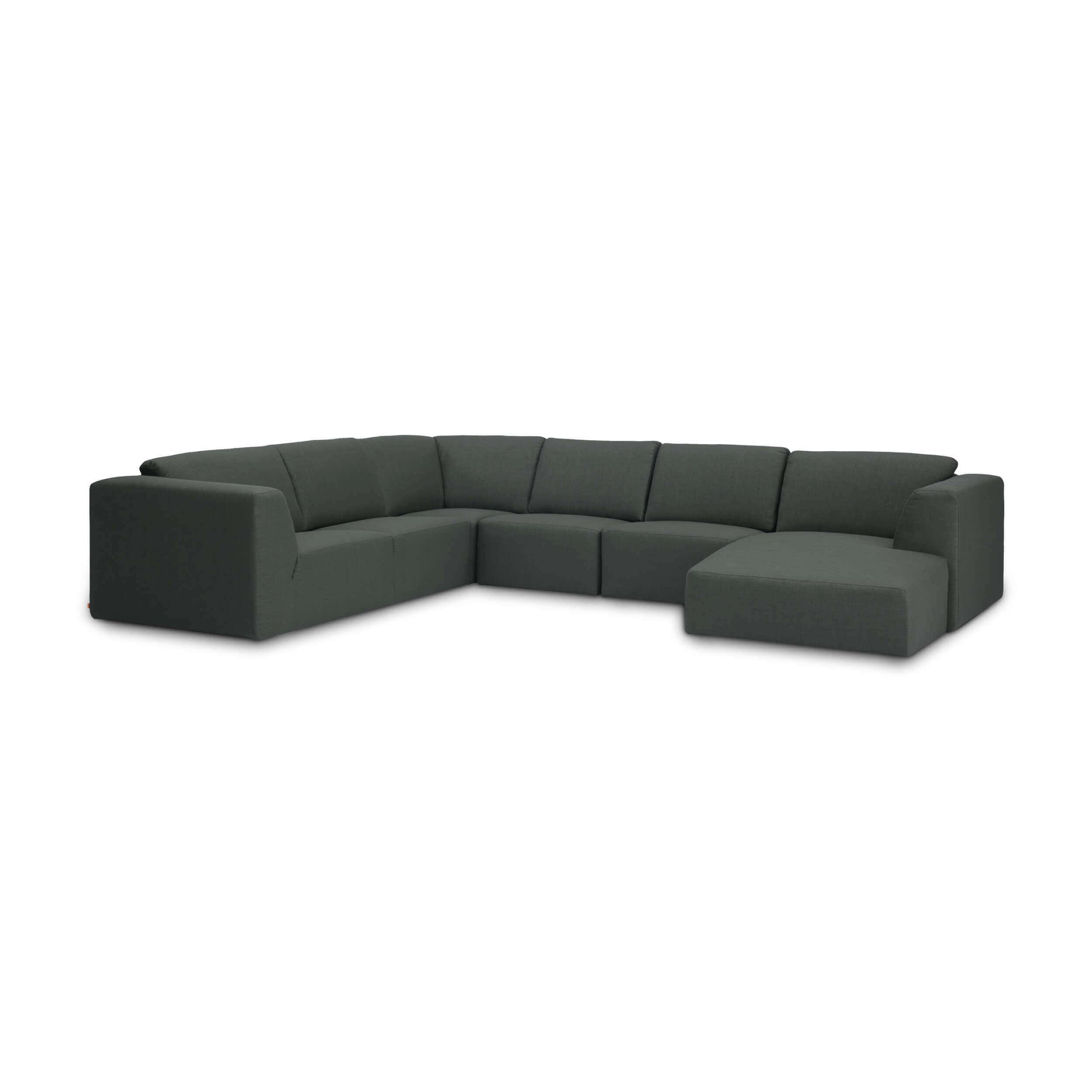 Groovy Morten Morten 6 Piece Sectional Sofa With Chaise Fabric Inzonedesignstudio Interior Chair Design Inzonedesignstudiocom