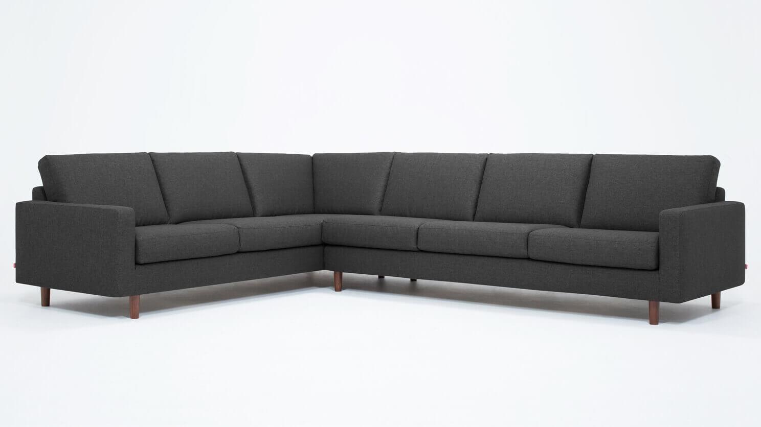 Oskar 2-Piece Sectional Sofa - Fabric | EQ3