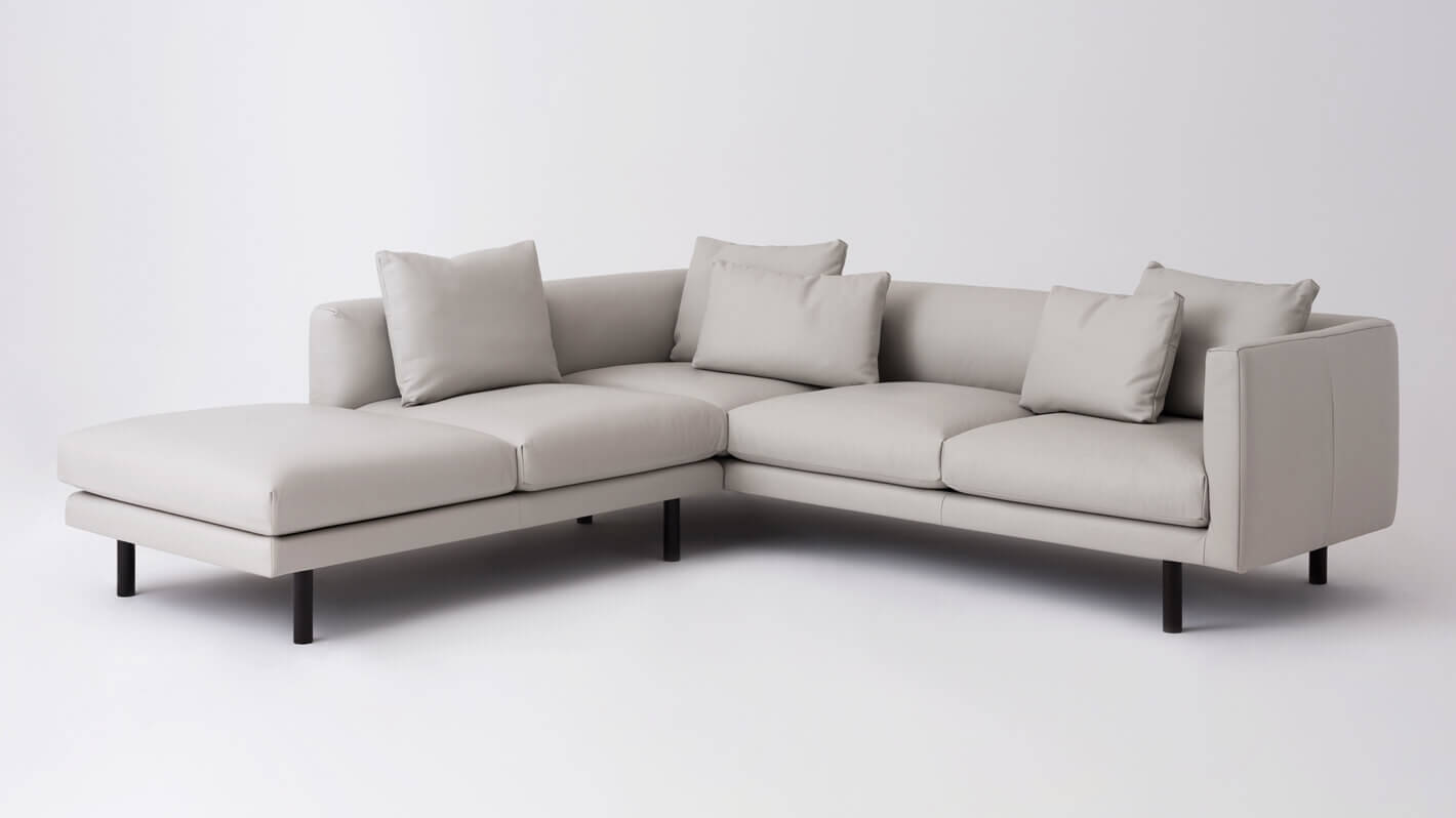 Replay 2-Piece Sectional Sofa With Backless Chaise - Leather | EQ3