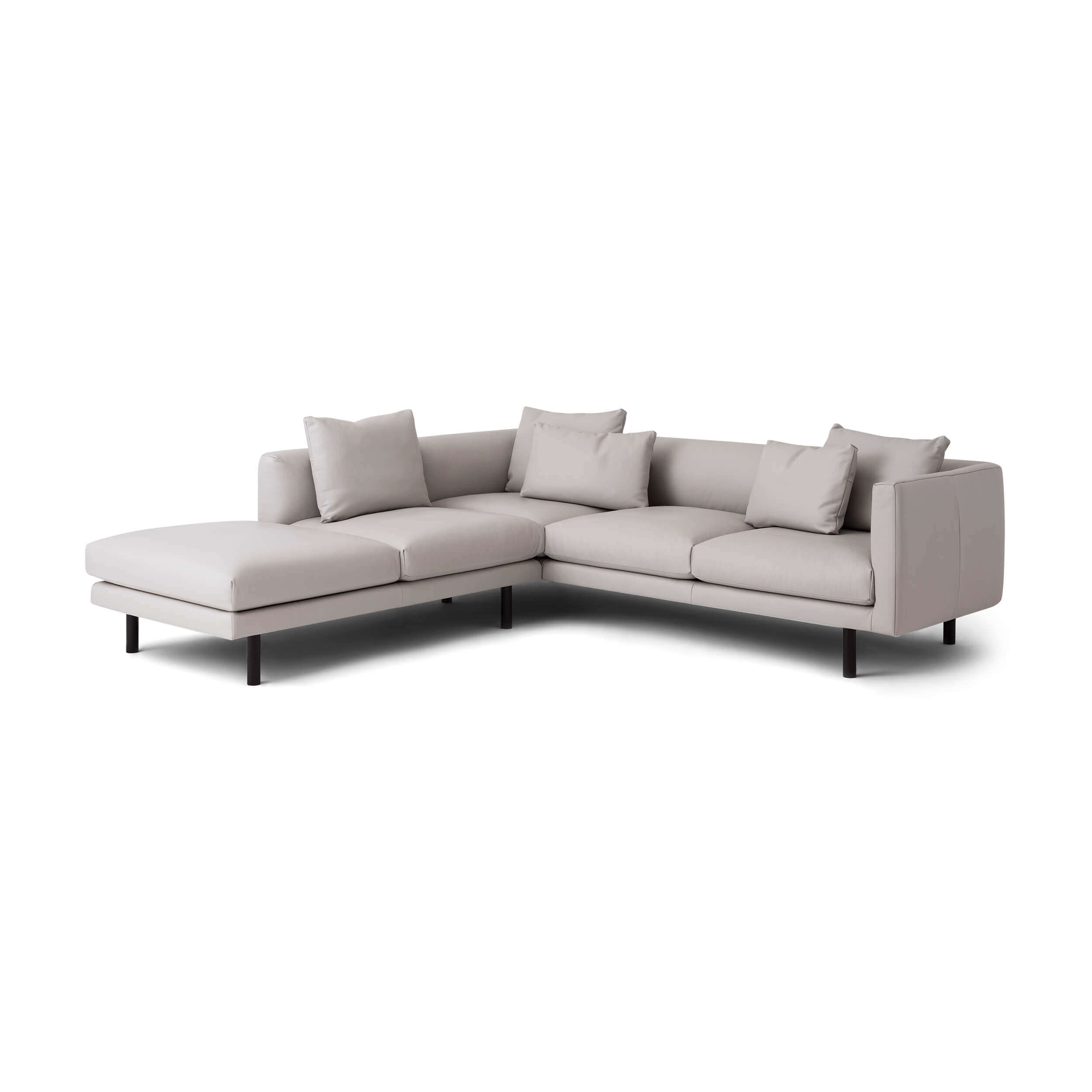Stupendous Replay 2 Piece Sectional Sofa With Backless Chaise Leather Caraccident5 Cool Chair Designs And Ideas Caraccident5Info