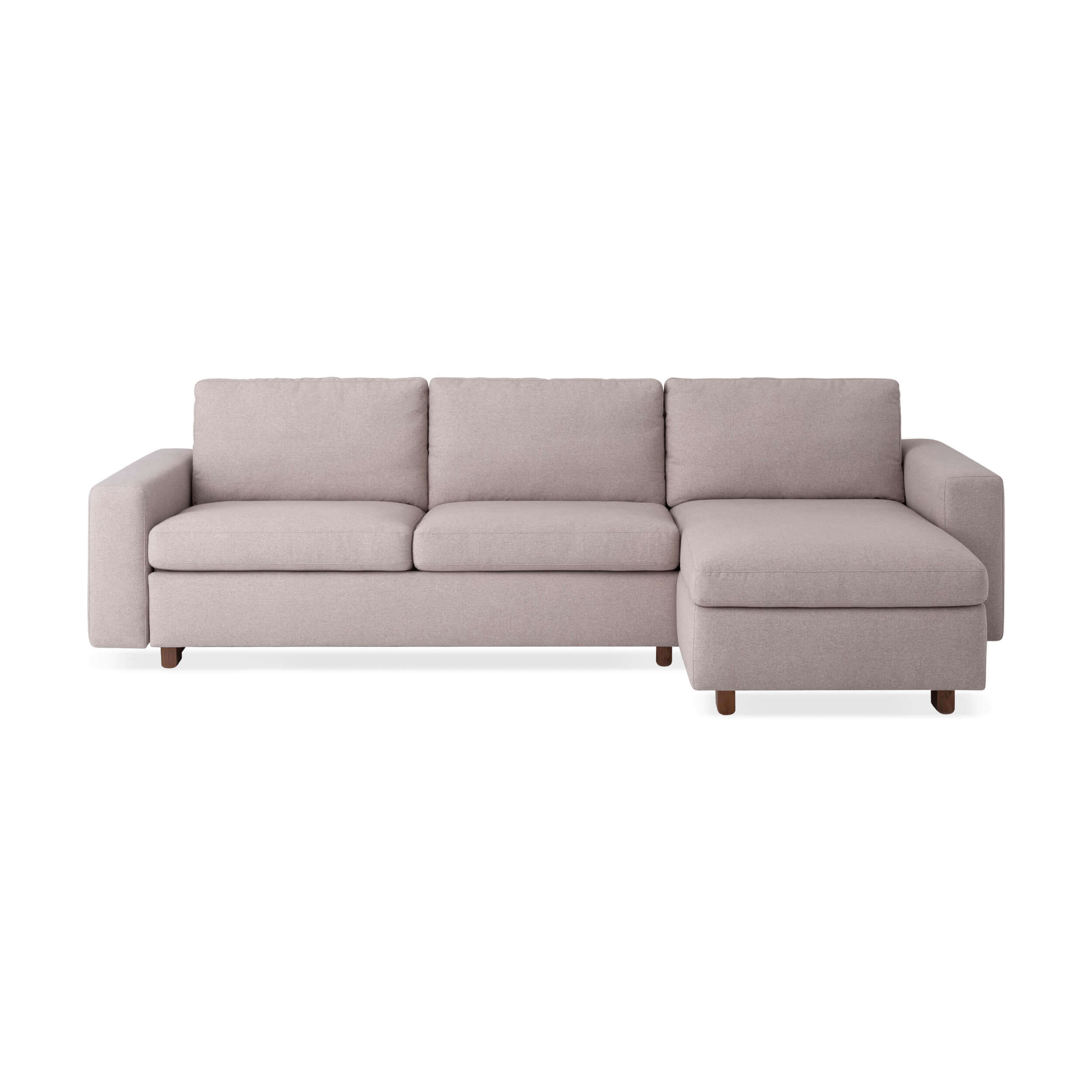 Enjoyable Reva 2 Piece Sectional Sleeper Sofa With Storage Chaise Fabric Pdpeps Interior Chair Design Pdpepsorg