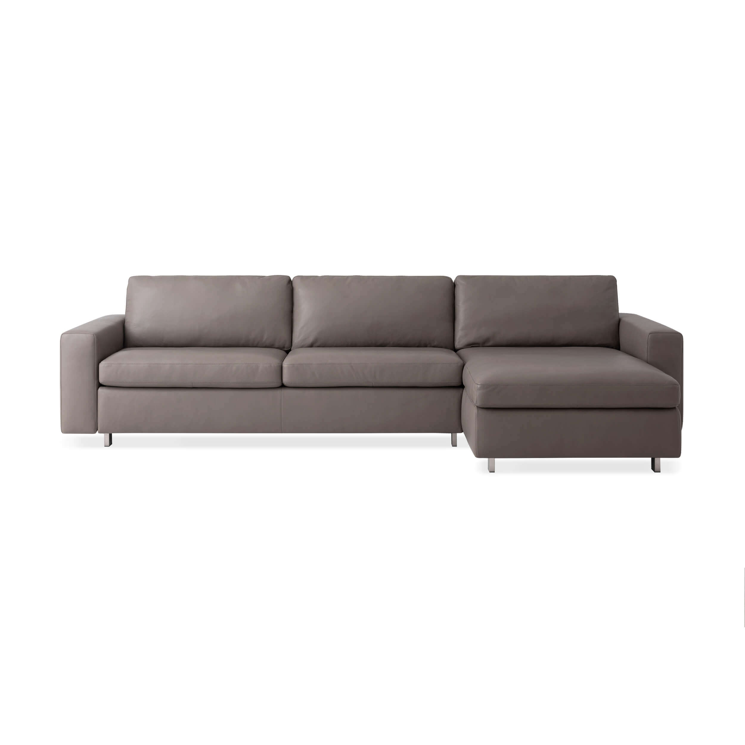 Brilliant Reva 2 Piece Sectional Sleeper Sofa With Storage Chaise Leather Pdpeps Interior Chair Design Pdpepsorg