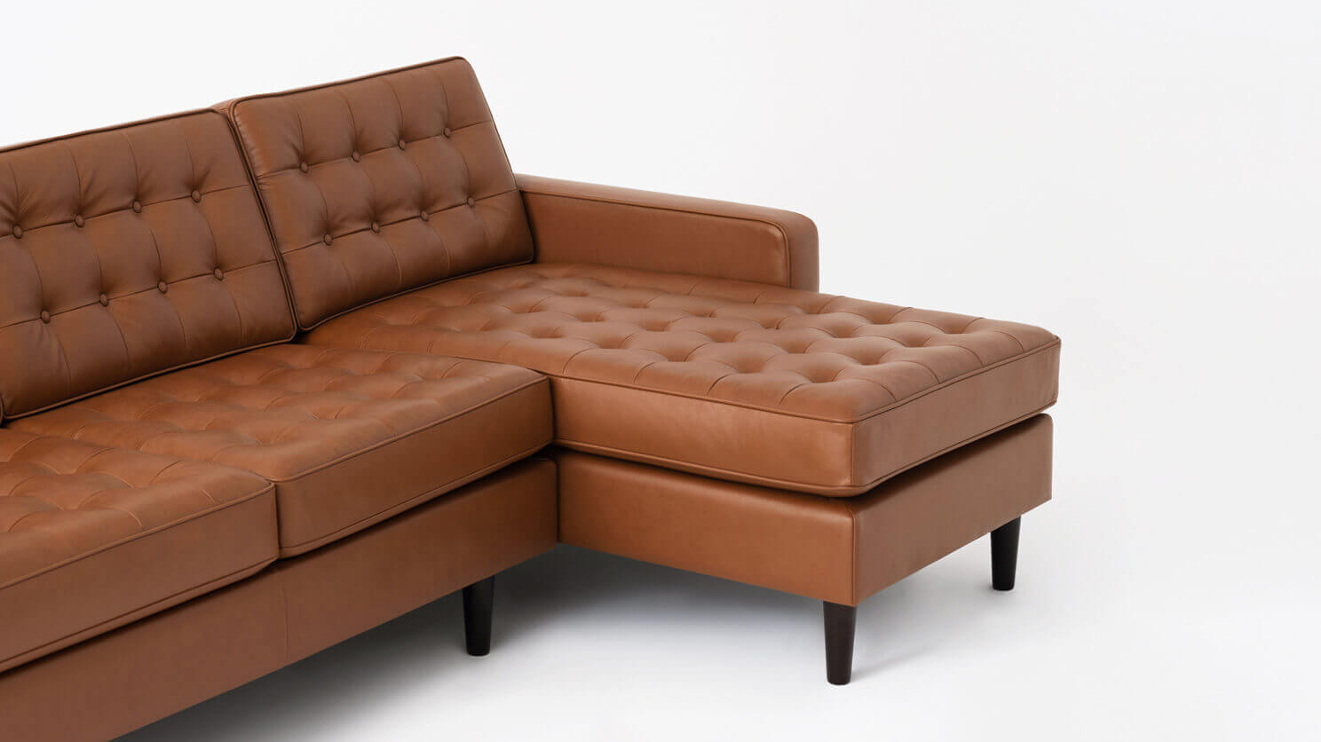 Reverie 2-Piece Sectional Sofa with Chaise - Leather   EQ3