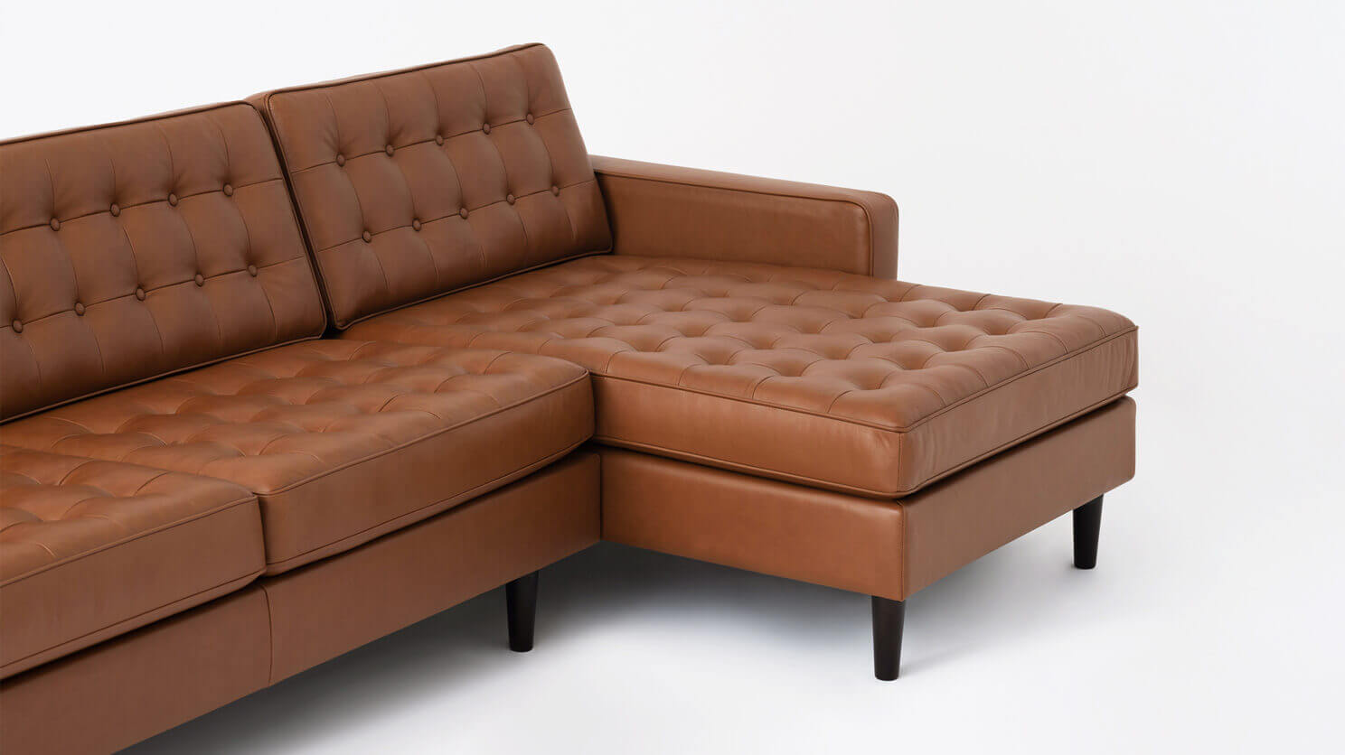 Reverie Apartment 2 Piece Sectional Sofa With Chaise Leather