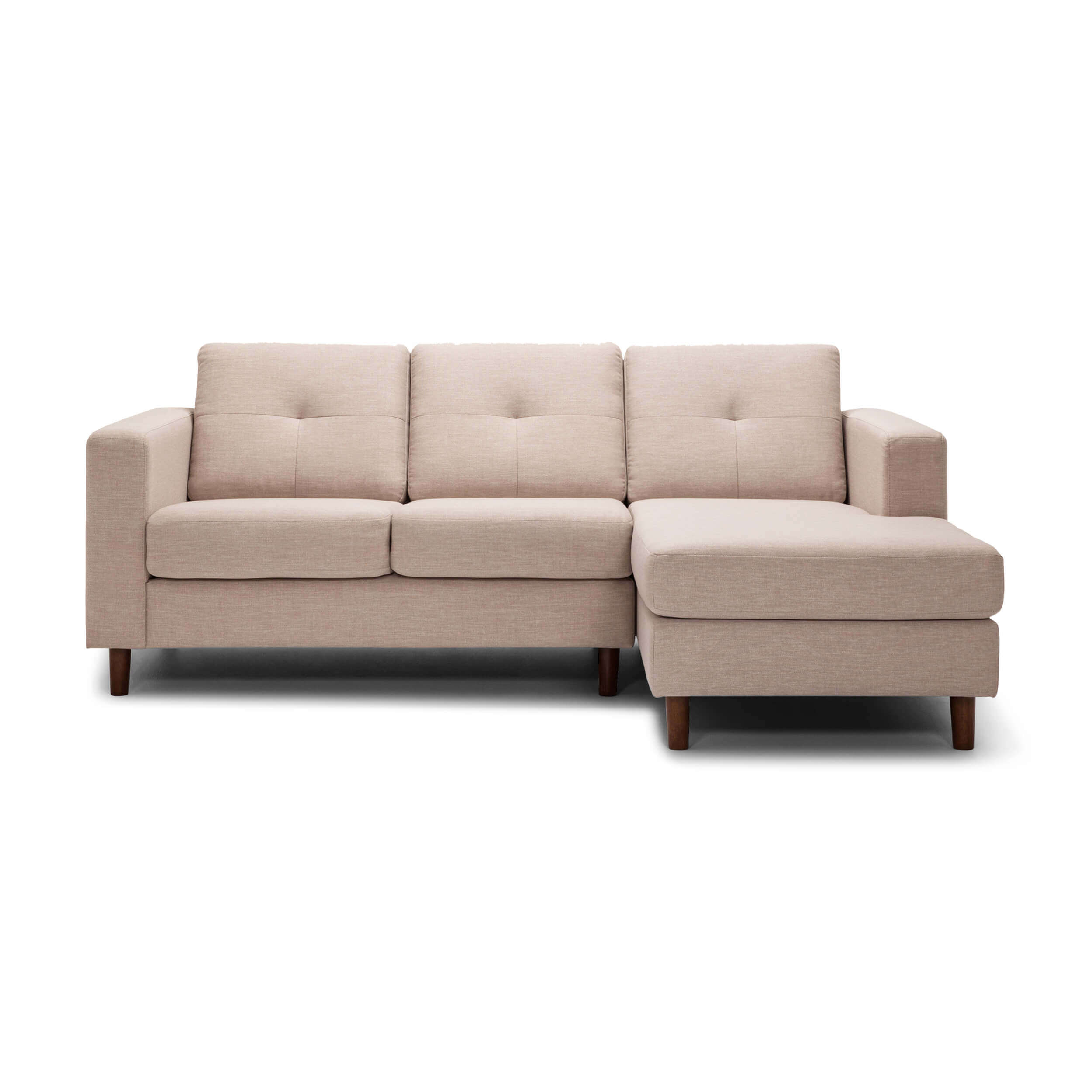 Solo 2 Piece Sectional Sofa With Chaise Fabric