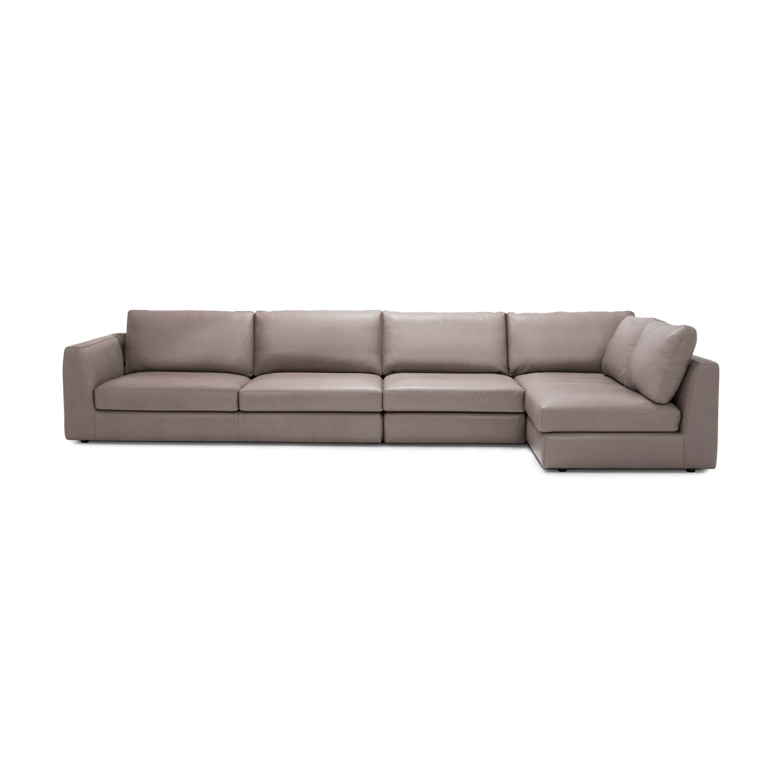 Cello 3-Piece Sectional Sofa with Full Arm Chaise - Leather