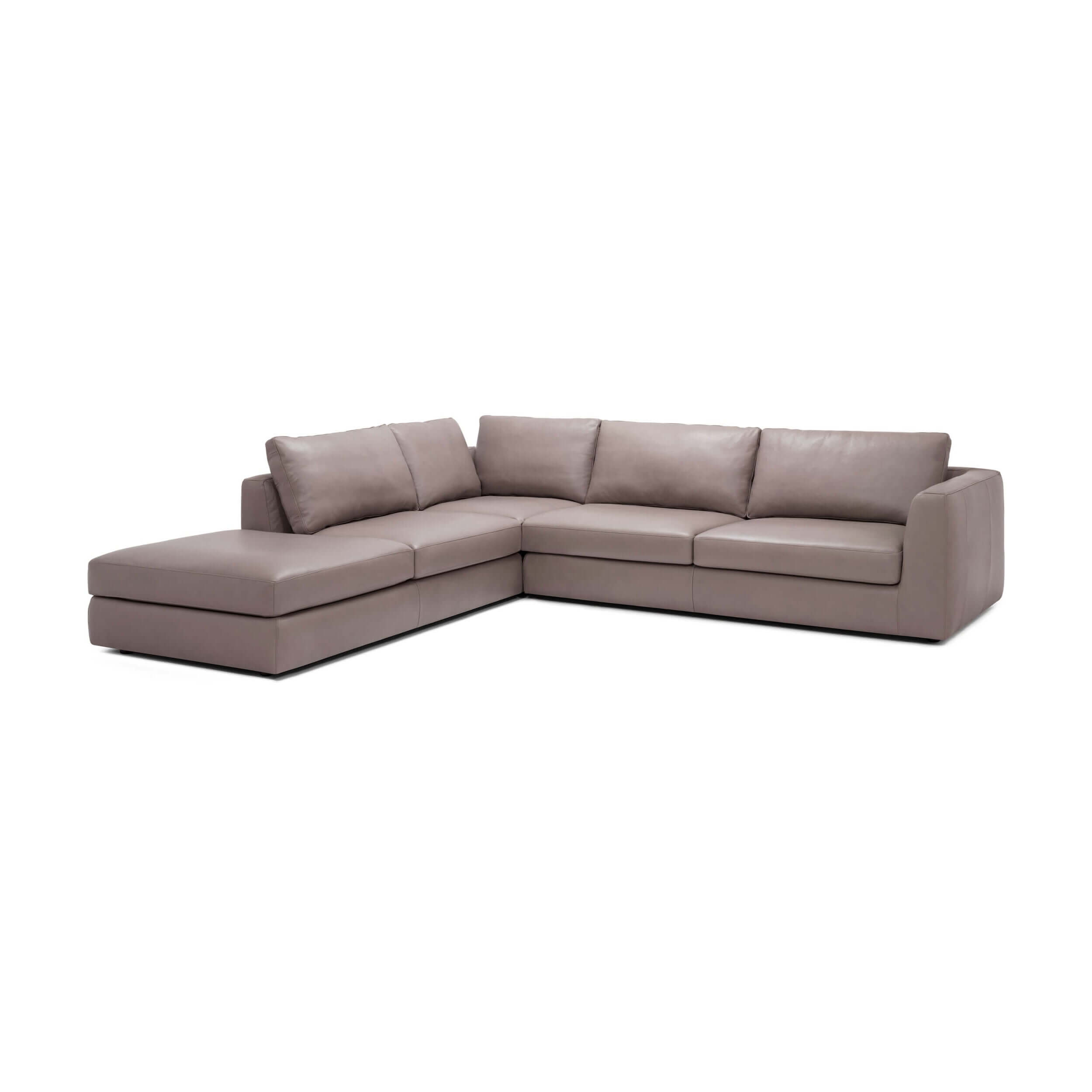 Cello 3-Piece Sectional Sofa with Backless Chaise - Leather