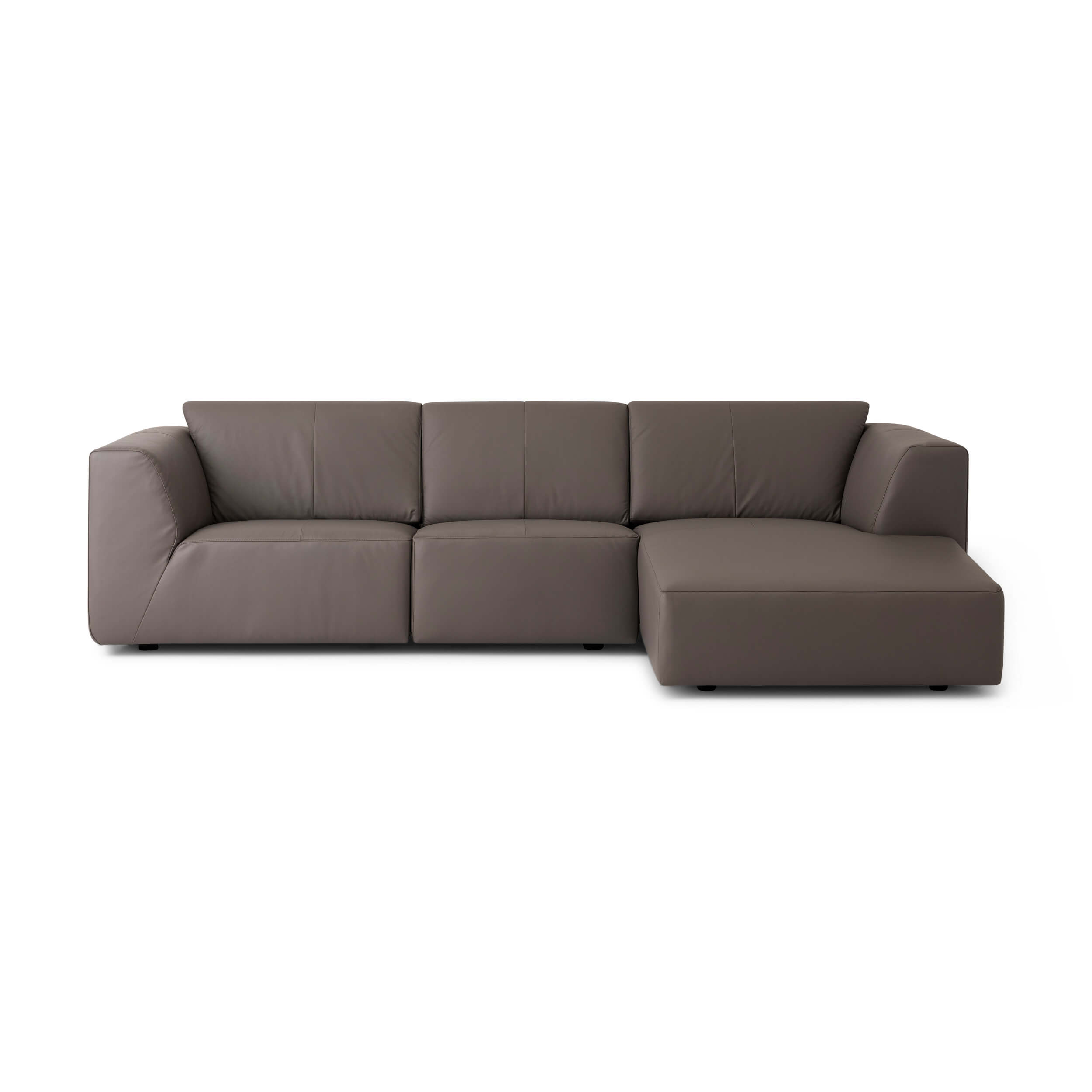 Morten 3-Piece Sectional Sofa With Chaise - Leather