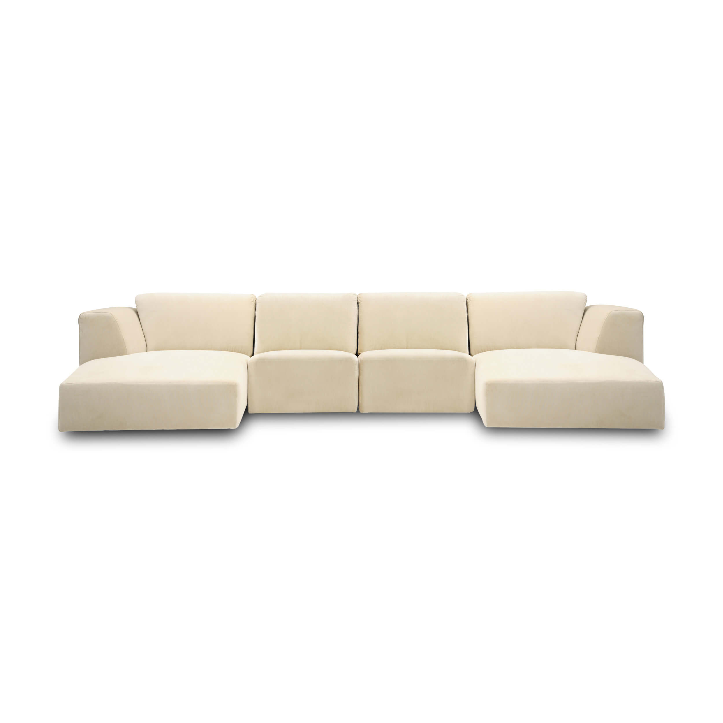 Morten 4 Piece Sectional Sofa With Chaise Fabric Eq3