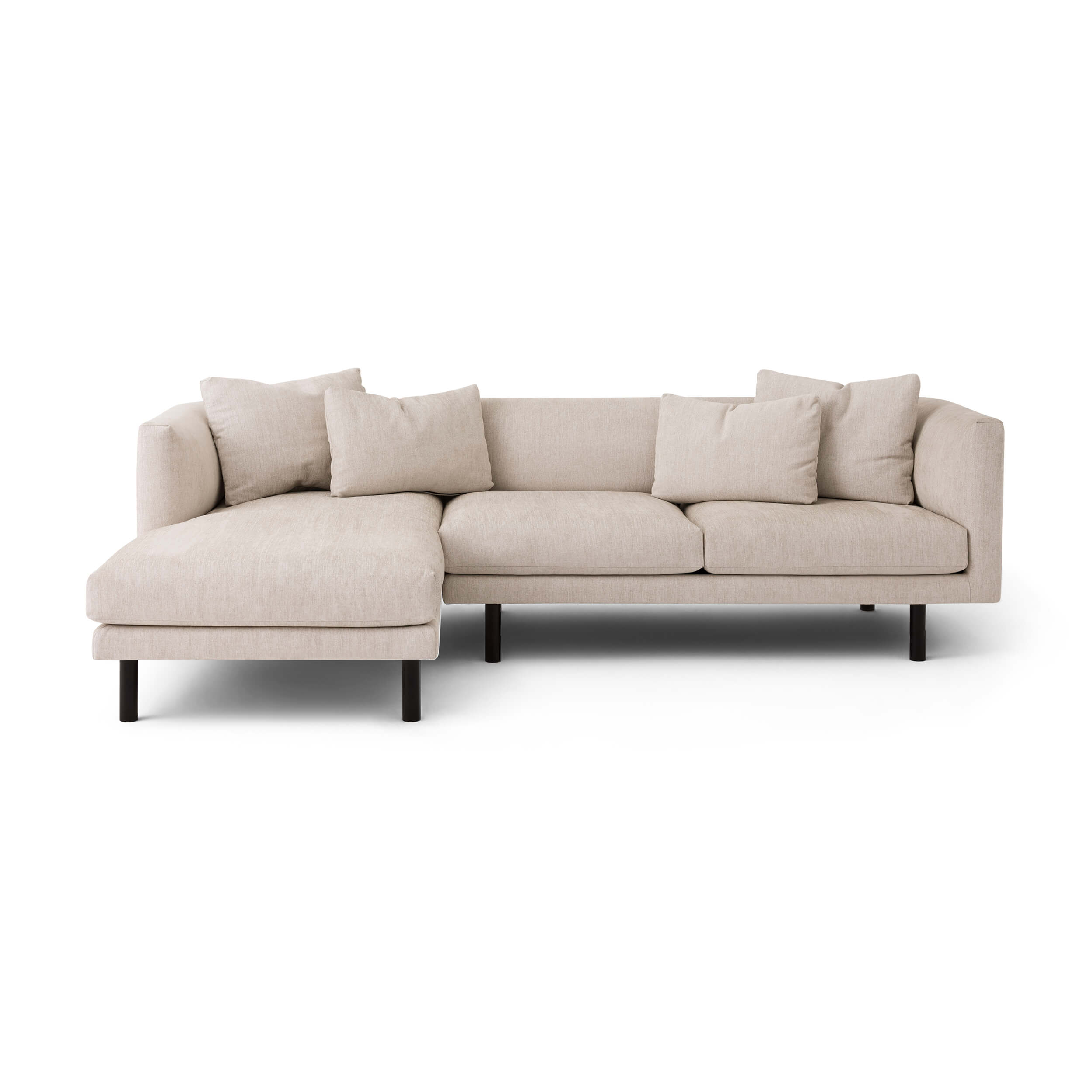 Replay 2 Piece Sectional Sofa With Chaise Fabric Eq3