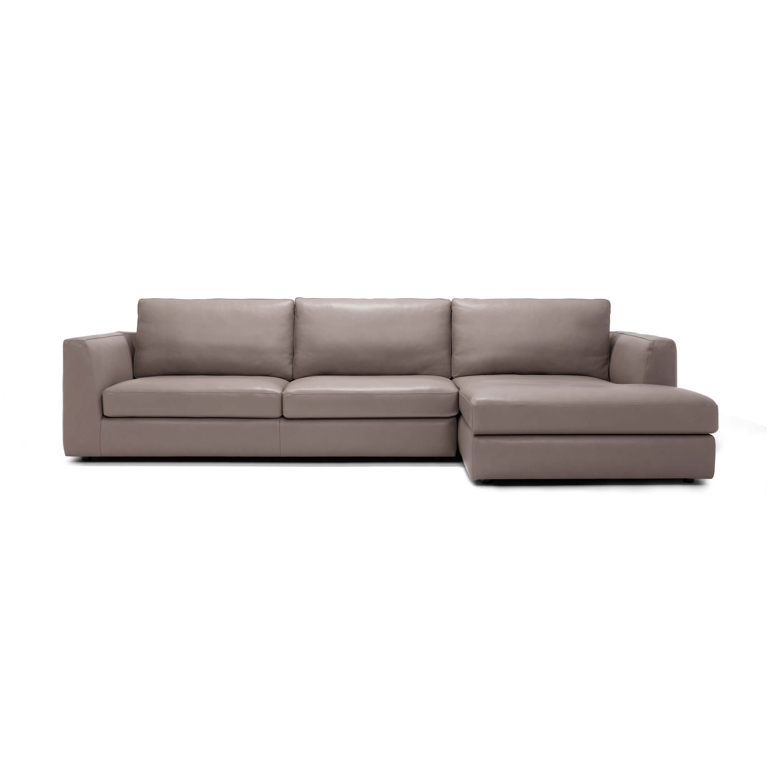 Cello 2-Piece Sectional Sofa With Chaise - Leather
