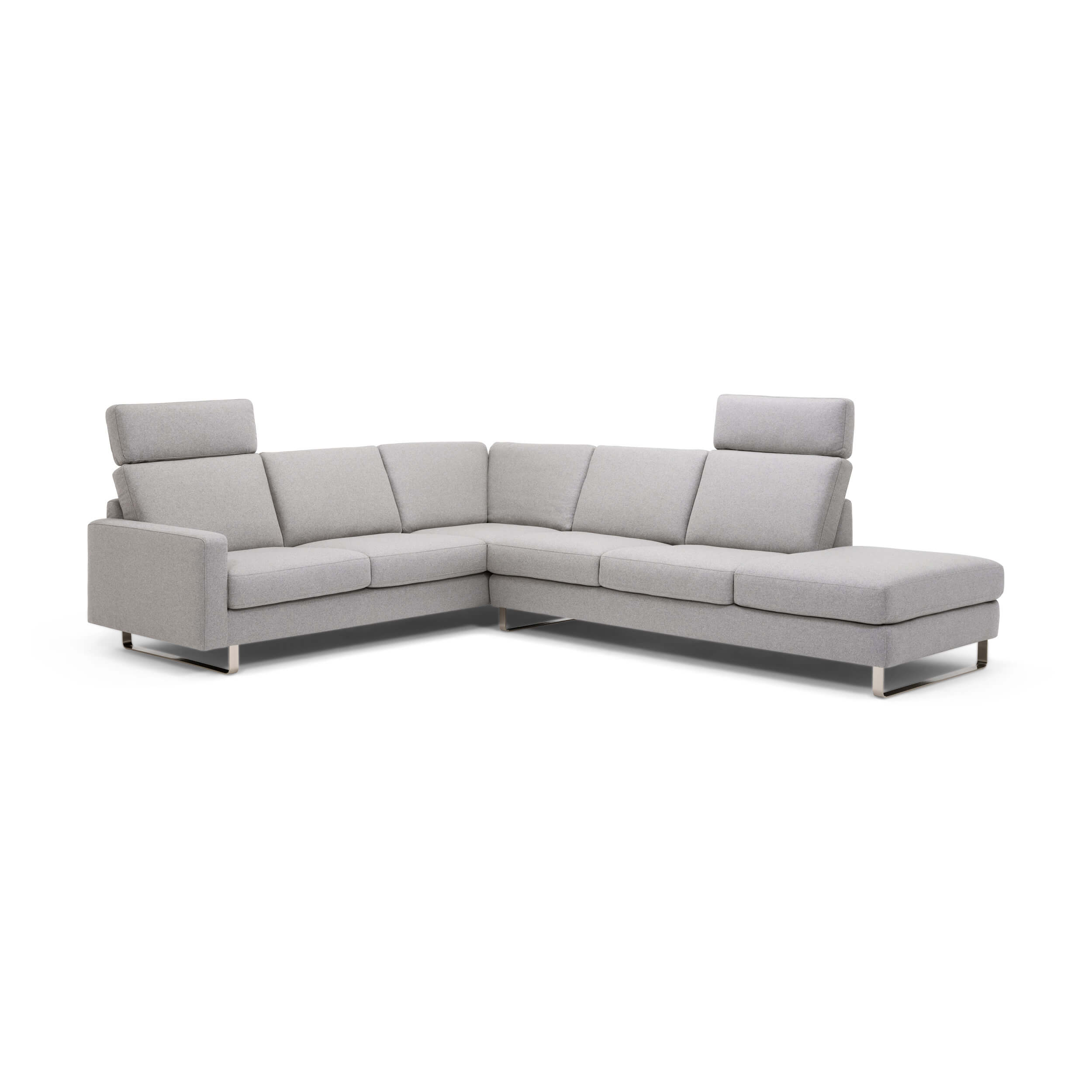 Oskar 2-Piece Sectional Sofa With Headrests - Fabric