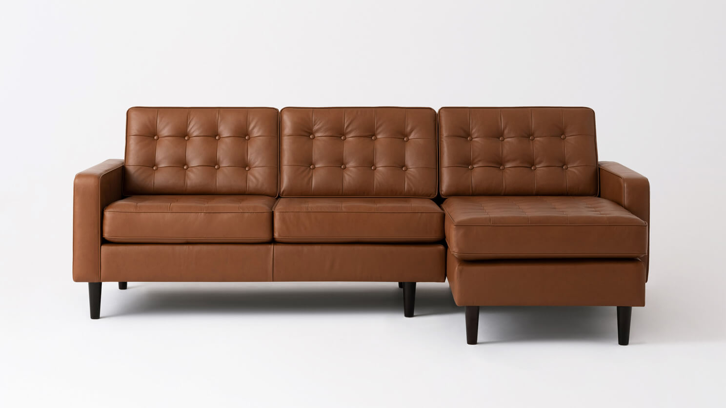 Reverie 2 Piece Sectional Sofa With Chaise Leather Eq3