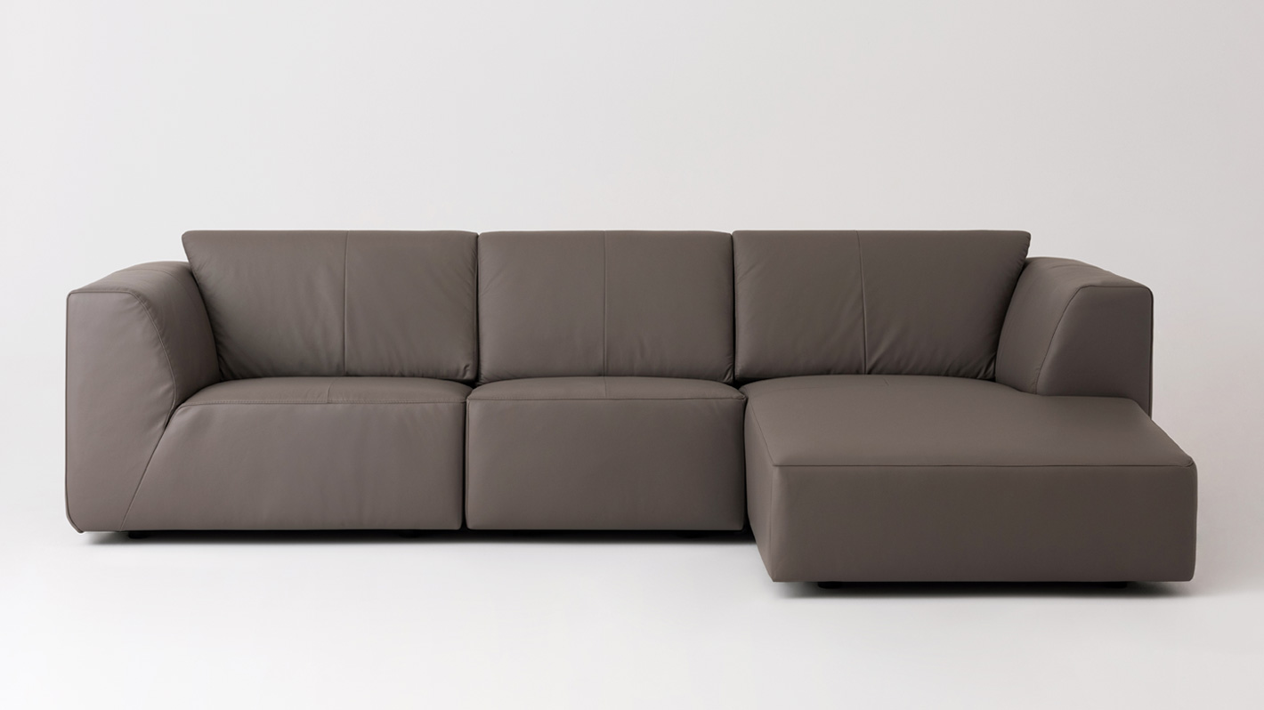 Morten 3 Piece Sectional Sofa With Chaise Leather Eq3